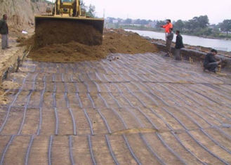 High Intensity PP Plastic Uniaxial Geogrid 25KN/M for Retaining Wall